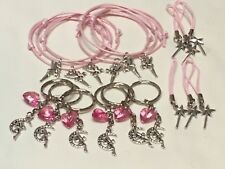 Fairy Party Bag Fillers Friendship Bracelets Keyrings & Phone Cord X18 PIECES
