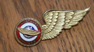 Vintage Northwest Airlines US Airmail Enameled Wings