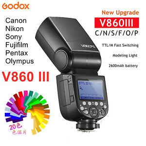 GODOX V860III 2.4G 1/8000S  E-TTL II HSS Flash Light For Canon Nikon Sony Fuji