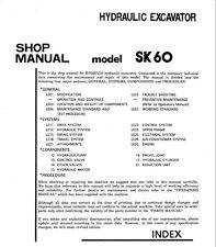 Kobelco SK60 Hydraulic Excavator Shop Service Manual