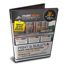 30+ OO GAUGE / 1:76 SCALE PRINTABLE MODEL RAILWAY BUILDINGS ON DVD SHOPS WALLS