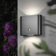 LED Wandleuchte Außenleuchte mit Bewegungsmelder Wandlampe  Anthrazit 131 B-Ware