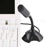Adjustable Desktop USB Microphone Mic Stand with LED for Computer PC Laptop