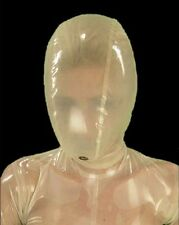 087 Latex Rubber Gummi breathing Mask Hood customized catsuit clubwear .7mm cool