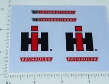 Ertl IHC 1:16 Payhauler Dump  Truck Stickers       ET-019