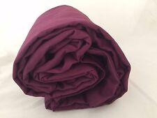 Plum Burgundy Super King Duvet Comforter Cover Cotton 300TC Purple Company Store
