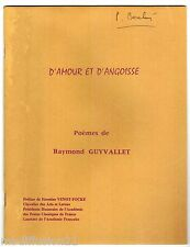 D'AMOUR ET D'ANGOISSE//POEME//-R.GUYVALLET
