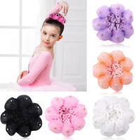 Shiny Kids Girl Accessories Bun Maker Cover Snood Dance Crochet Hair Net Ballet