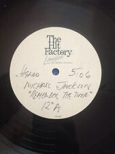 "Michael Jackson 12"" ACETATE "" REMEMBER THE TIME "" 2 mix - The Hit Factory - UK"