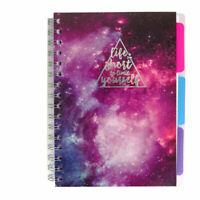 A5 Progetto Studiare Notebook & Divisori Compresse Con 200 Pagine Grafico Linea