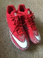 Nike Vapor Ultrafly Keystone Baseball Football Cleats Mens Size 10 Red And White