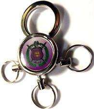 Omega Psi Phi 3-Ring Key Chain: Majestic Shield!