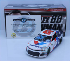 SIGNED 2018 ALEX BOWMAN #88 VALVOLINE AUTOGRAPHED BLUE PEN 1/24 CAR
