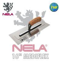 NELA 16in MediFLEX Trowel - Premium Medium FLEX Plasterers Trowel 16x4.9in 10894