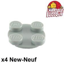 Lego - 4x turnable plaque tournante 2x2 gris/light bluish gray 3679 3680 NEUF
