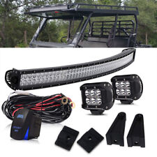 54inch 312W LED Light Bar+2x 18W Pods+Wire Kit Fit Jeep Ford Truck Boat T-TOP