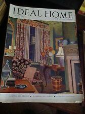 IDEAL HOME OTTOBRE 1947 RIVISTA ORIGINALE VINTAGE ARREDAMENTO HOME GARDENING