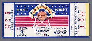 1976 NBA All Star Game Ticket Philadelphia Spectrum Full Ticket
