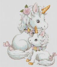 Bebé Unicornios Punto de Cruz Kit Completo #5-430/2