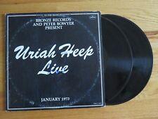 MICK BOX of URIAH HEEP signed LIVE JANUARY 1973 Album / Record COA EASY LIVIN