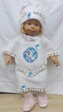 "New baby toddler walking girl doll outfit clothes Orlaf snowman Frozen  25"" 2-3"