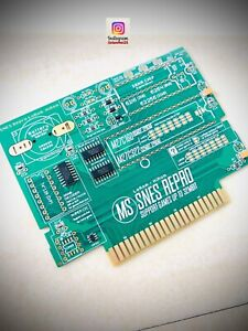 SNES cartridge PCB remplacement LoRom / HiRom - M27c160 / M27c322 PRE-ASSEMBLED
