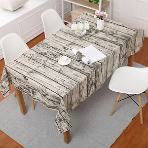 Wood Grain Tablecloth Dinner Kitchen Table Cloth Cover Wedding Events Decors