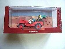 """Voiture TINTIN - Willys MB 1943  """" Pays de l'or noire """"  Neuf"""