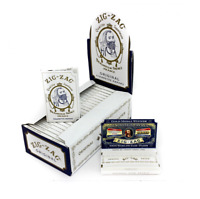 Zig-Zag White - Box 24x PACKS - Zig Zag Single Wide 1.0 Rolling Papers Tobacco