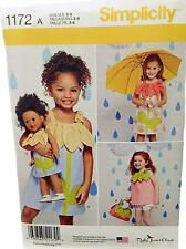 New Pattern 1172 Doll Clothes+ Child Sz 3-8 with Dress fit 18 inch American Girl