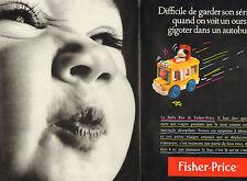 Publicité Advertising 1990 ( Double page )  FISHER PRICE le baby bus jouet bébé