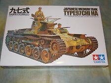 Tamiya 1/35 Japanese Medium Tank Type 97 ( Chi-HA ) Model Tank Kit #35075