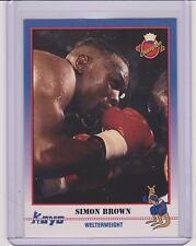 (100) 1991 KAYO SIMON BROWN BOXING CARDS #42 ~ WASHINGTON DC ~ AWESOME LOT!!!