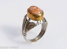 antik orient silberring achat  Afghanistan  silver agate ring Nr:42