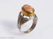 antik orient silberring achat  Afghanistan persien silver agate ring Nr:42