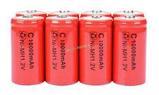 8 x size C 1.2V 10000mAh Ni-MH ricaricabile del batteria di Rosso