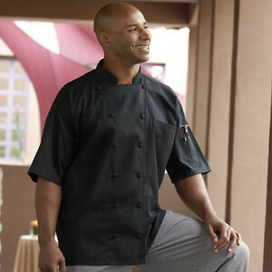 Mesh Back Short Sleeve Chef Jacket Style 0480 (Black) Barbados (all sizes)