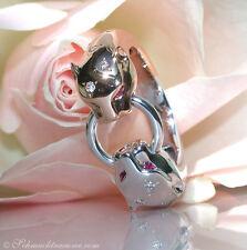 AUSSERGEWÖHNLICH! Edler Panther Brillanten Ring, 0,15 cts.TW-VS RG/WG750 2.100€