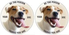 JACK RUSSELL STICKER PET LOVER BE THE PERSON YOUR DOG THINKS YOU ARE PAIR