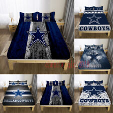 Dallas Cowboys Bed Fitted Sheet Cover 3PCS Fitted Sheet & Pillowcase Bedding set