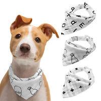 3pcs Traingle Bandana Dog Collar Cat Puppy Neck Scarf Neckerchief Pinafore White