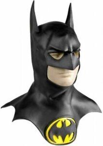 Batman Collectors Mask with Cowl Licensed Dc Comics Latex Costume Accessory Logo