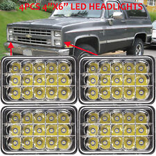 "For CHEVY PICK UP TRUCK 1981-1987 4pcs 4×6"" LED Headlights High Low Sealed Beam"
