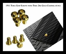 COLT 1911 Torx Grip Screws with True 24k Gold Coating x 4 pcs