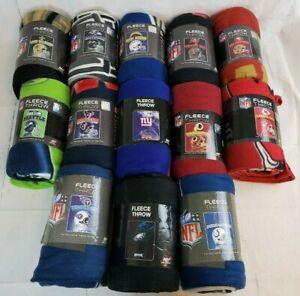 """U-Pick NFL Team Super Soft Fleece Throw Official  Blanket 50""""x60"""" Football a68"""