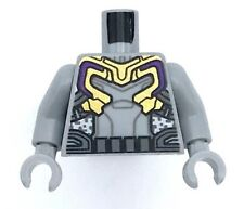 Lego New Light Bluish Gray Torso Gold and Silver Armor Utility Belt Pattern