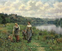 Daniel Ridgway Knight Vernon Poster Reproduction Paintings Giclee Canvas Print