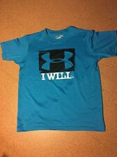 Under Armour Sportshirt Jungs Boys Hellblau Blau Kindergröße YLG