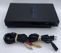 Playstation 2 Fat PS2 Console Bundle Cables Good Condition Tested Working *READ*