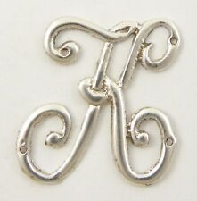 Antique Solid Sterling Silver Letters 'K' 18mm